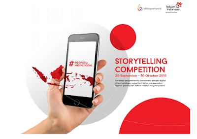 Telkom mengadakan Kompetisi Bercerita Telkom untuk para Bloggers dan Youtubers