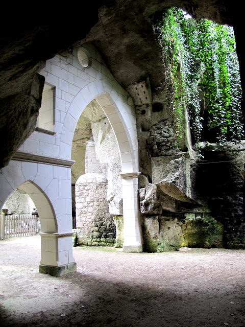 part of the caves within the trogloydte street at Souzay-Champigny