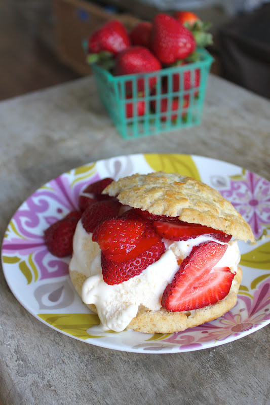 Strawberry Shortcake with Vanilla Ice Cream - The Little ...