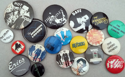 Badges for punk bands