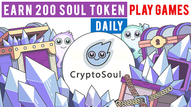 CryptoSoul Review-Get paid for completing tasks-Soul money clicker gameplay
