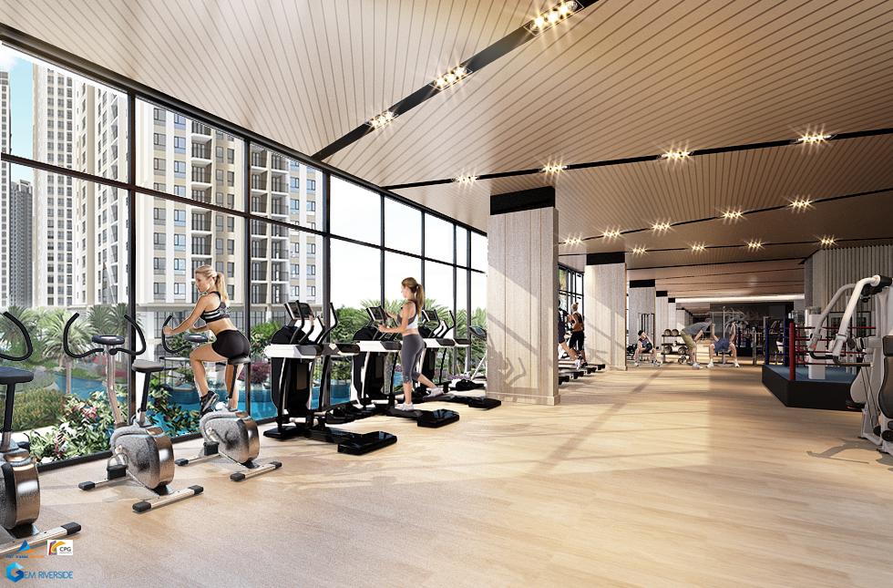 Phòng Gym Cao cấp tại Gem Riverside