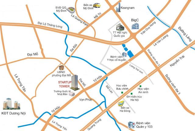 Vị trí đắc địa của dự án Startup Tower