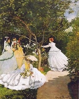 Femmes au jardin de Claude Monet avec Camille Monet et Frédéric Bazile