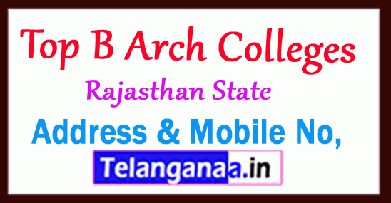 Top B Arch Colleges in Rajasthan
