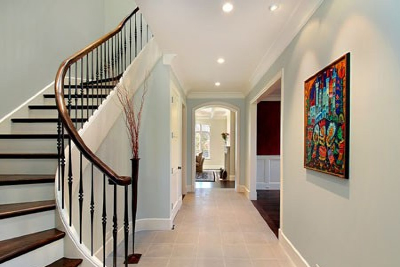 Painted walls and stairs