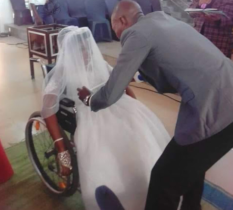 Update: Photos from the church wedding of physically challenged lady in Akwa Ibom State