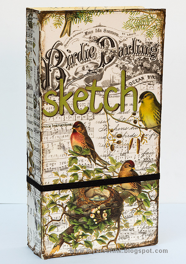 Layers of ink - Aviary Sketch Storage Holder tutorial by Anna-Karin Evaldsson