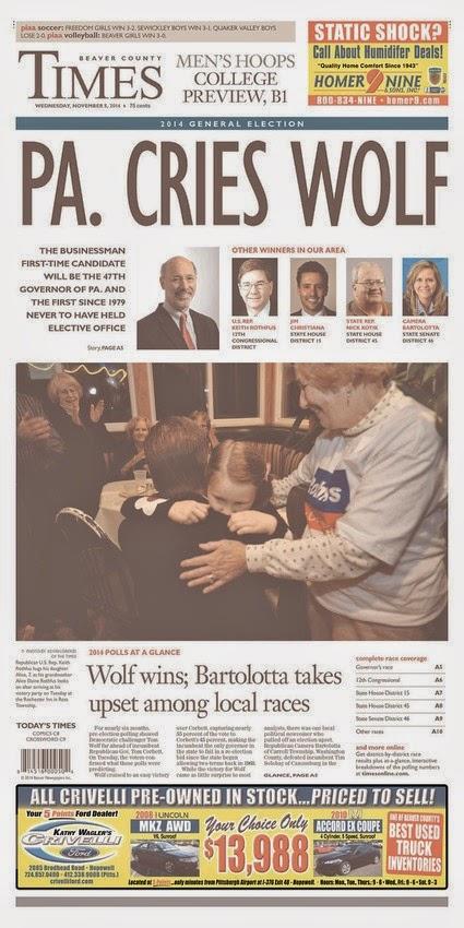 Como primeiras páginas de jornais cobriram a vitória GOP