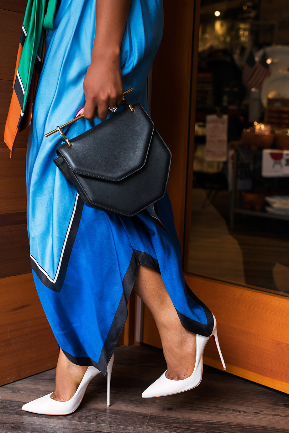 M2Malletier bag, Christian Louboutin white pumps, www.jadore-fashion.com