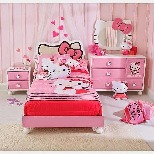 Desain Kamar Tidur Anak Hello Kitty Lucu Terbaru 2014 ...
