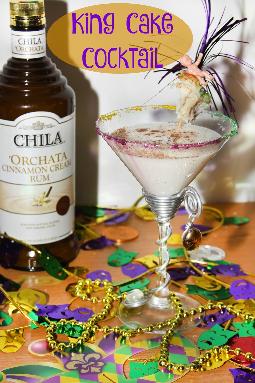 King Cake Vodka Mixed Drink