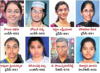 TS Inter Topper Photos District wise, TS Intermediate 1st year 2nd year Toppers Photos