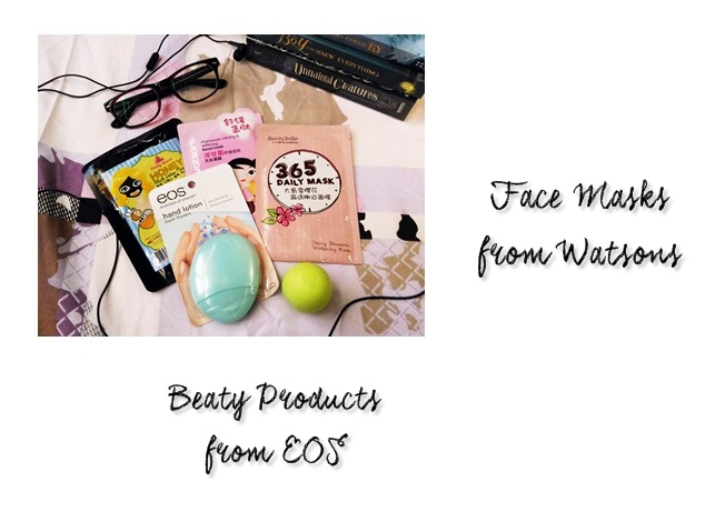 Beauty products from Watsons and EOS