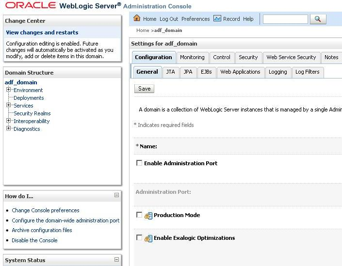 Zeeshan Baig's Blog: How to Change Weblogic Domain MODE to