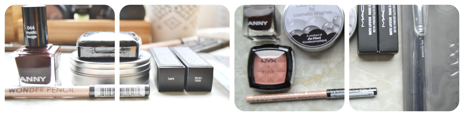 anny mystic rouge nyx mauve nix wonder pencil light mac velvet teddy taupe zoeva smudger