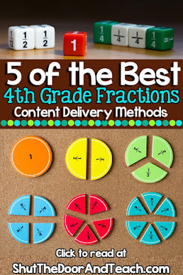 5 Fourth Grade Fractions Content Delivery Methods