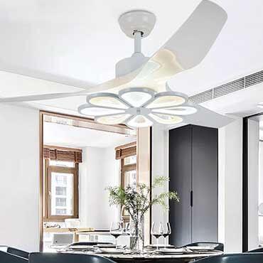 Lựa chọn đèn quạt trần đẹp cho không gian phòng khách ấn tượng