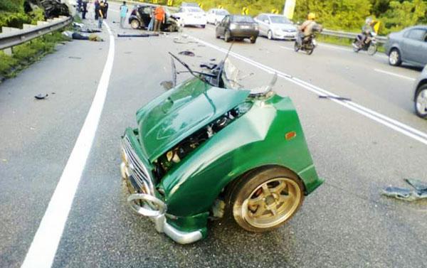 Dua maut, kereta terputus dua nahas di Bukit Putus
