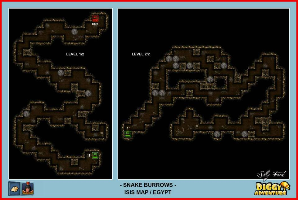 Diggy's Adventure Walkthrough: Egypt Isis / Snake Burrows