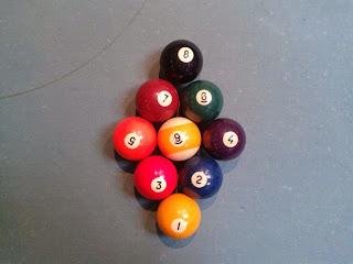 Billardkugeln aufstellen 9-Ball