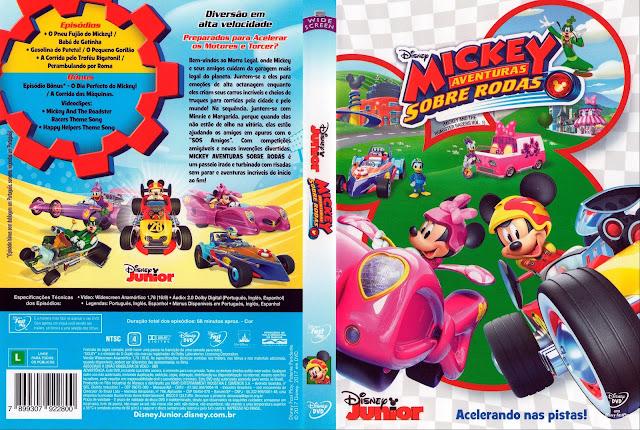 Capa DVD Mickey Aventura Sobre Rodas (Oficial)
