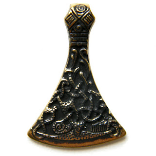 купить оберег славянская секира перуна бронзовые украшения ручной работы