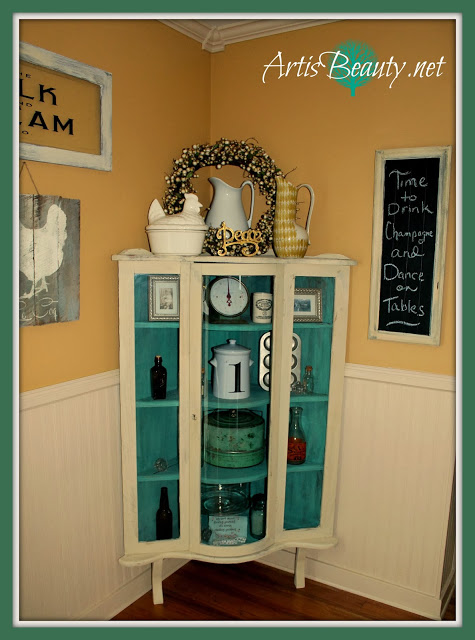 http://www.artisbeauty.net/2014/01/80s-oak-bow-front-china-cabinet-turned.html