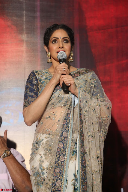 Sri Devi in designer saree stunning beauty at the launch of MOM movie Trailer~  Exclusive 003.JPG