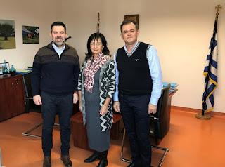 Συνάντηση του Διοικητή του Νοσοκομείου με τον Γραμματέα της Ελληνικής Ομοσπονδίας Καρκίνου.