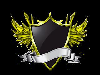 Logo Polos Perisai Bersayap Kuning Emas