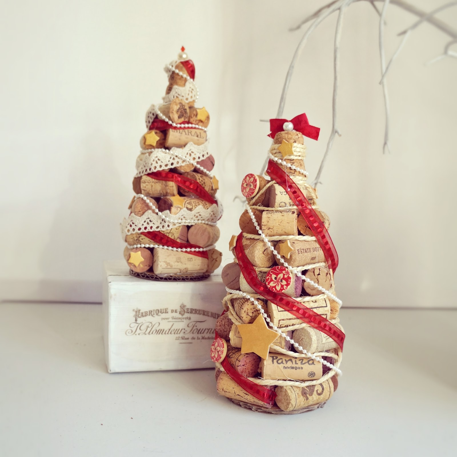 Lelleco Navidad: árboles de Navidad hechos con corchos de vino