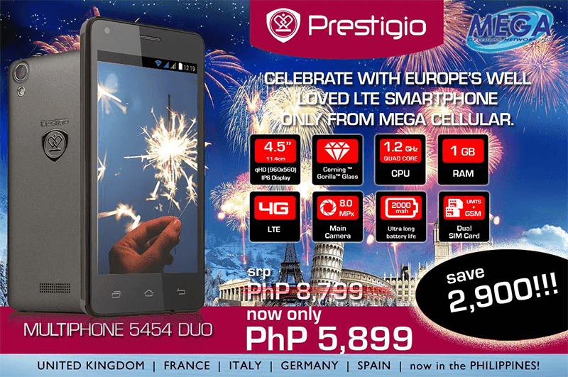 Prestigio Multiphone 5454 Duo LTE Gets A Price Cut! Down To 5899 Pesos!