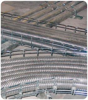 Metal basket and flexible tube