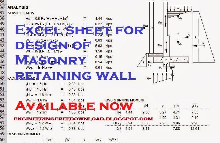Retaining Wall Design Download