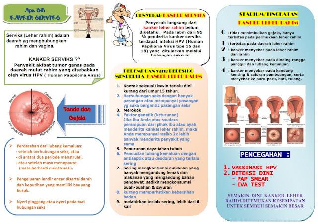 Kumpulan Materi Kebidanan: SAP dan Leaflet Kanker Serviks