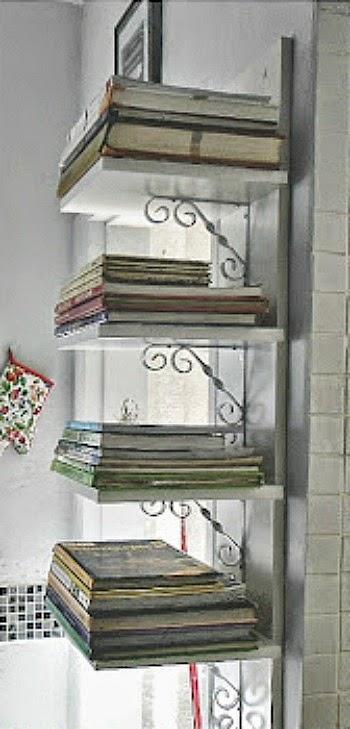 Cookbook Shelf Kitchen Cabinet
