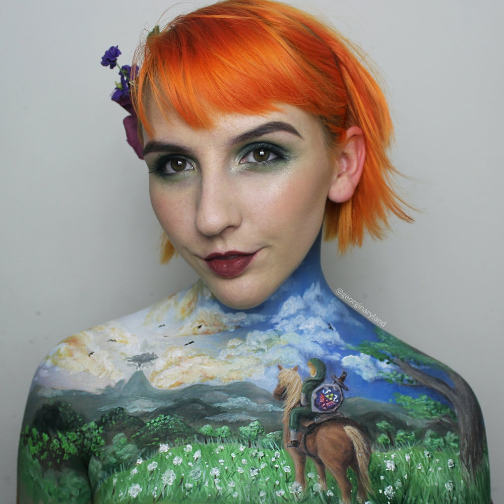 14-The-Legend-Of-Zelda-Georgina-Ryland-Fantasy-and-Movie-Makeup-Paintings-on-your-body-www-designstack-co