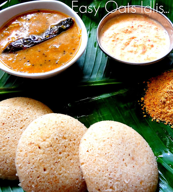 Healthy easy quick instant oats idlis