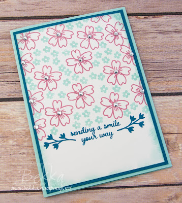 Sparkly Sending A Smile Card Featuring the Love and Affection Stamp Set from Stampin' Up! UK