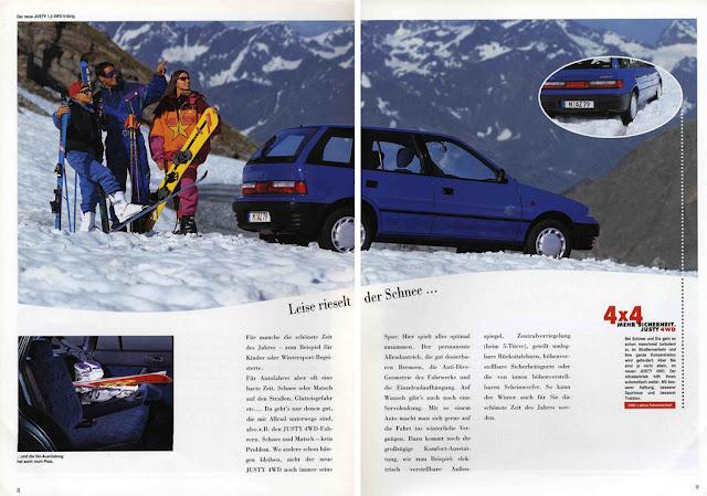 Subaru Justy II, 4WD, 1995, małe samochody z 4x4