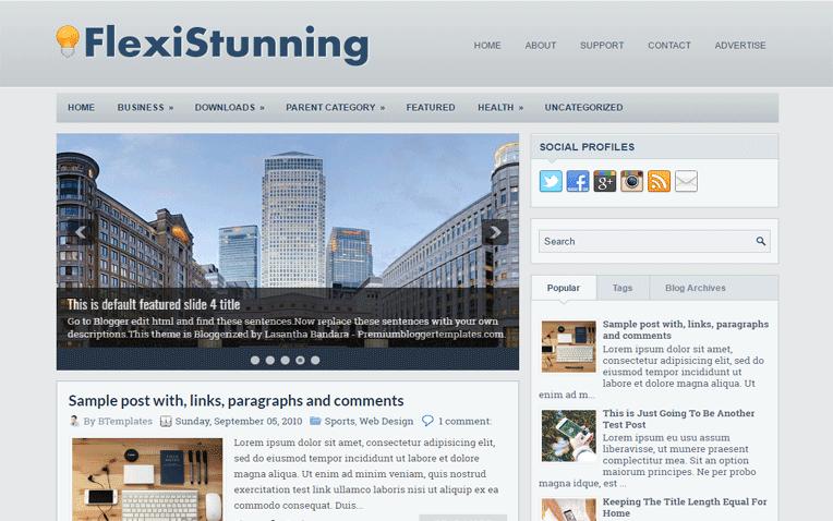 FlexiStunning Free Blogger Template