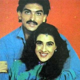 Amrita Singh With Ravi Shastri