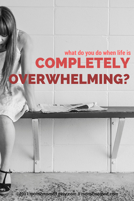 Mom2MomEd Blog: What do you do when life is completely overwhelming?