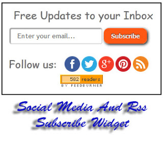 Rss Feed Subscribe Widget With Social Media | BloggersStand