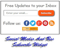Rss Feed Subscribe Widget With Social Media