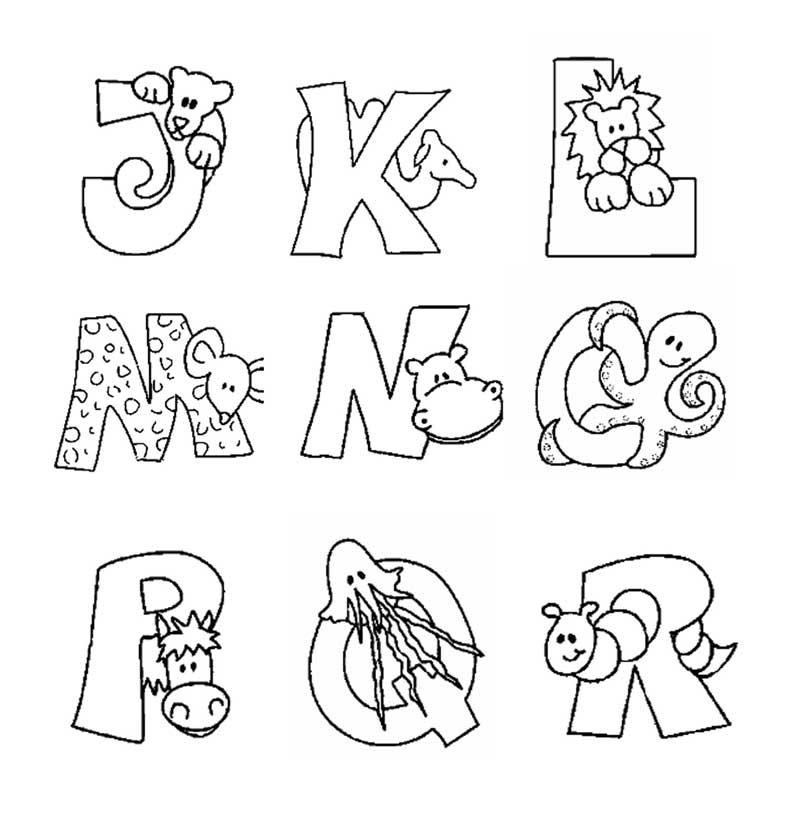 Alfabeto Com Bichinhos Para Colorir Imprimir Atividades E Desenhos