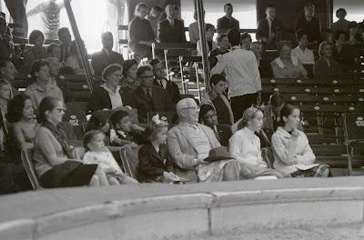 Чарльз Чаплин с семьей в цирке Кни, Швейцария, 1964 г.