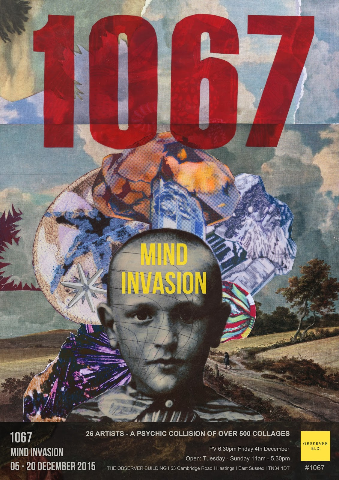 1067 : A MIND INVASION – HASTINGS, UK 4 DECEMBER 2015. ""