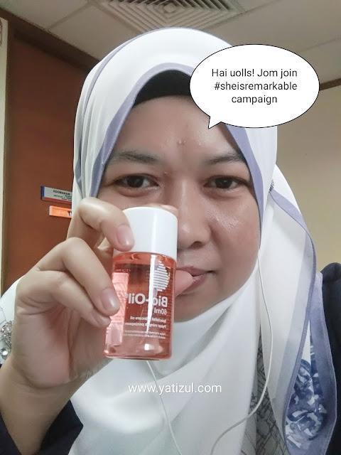 Jom Sertai Bio Oil #sheisremarkable Dan Menangi 11 Pasang Produk Bio-Oil